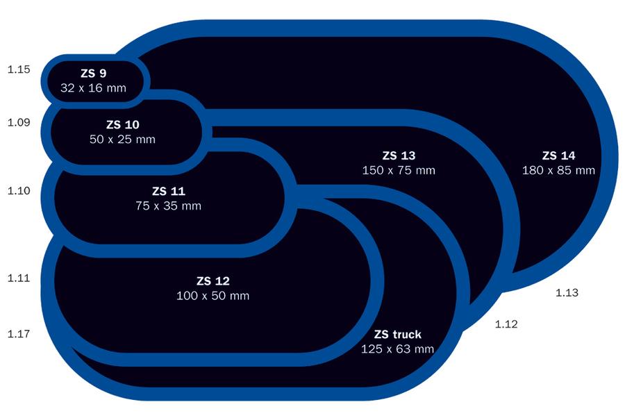 Záplata ZS 11 na opravu duší - 75 x 35 mm