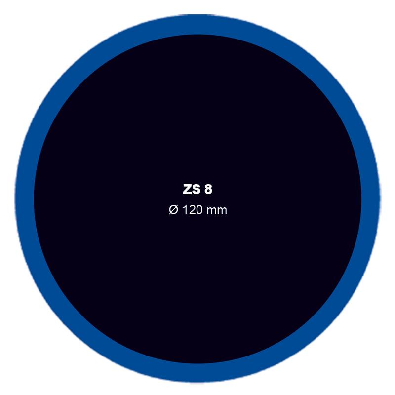 Záplata ZS 8 na opravu duší - průměr 120 mm
