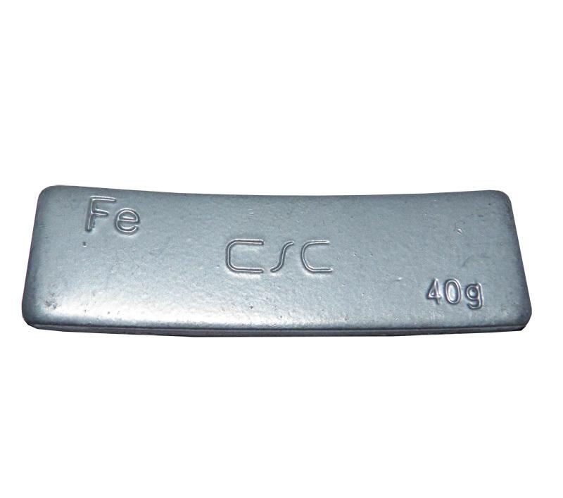 Samolepící závaží FEC 40 g - šedý lak